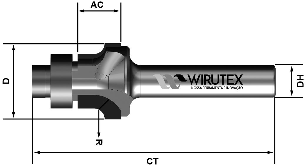 WM1214008060 - Raio com Isolamento | Produto | Wirutex - Nossa Ferramenta é Inovação