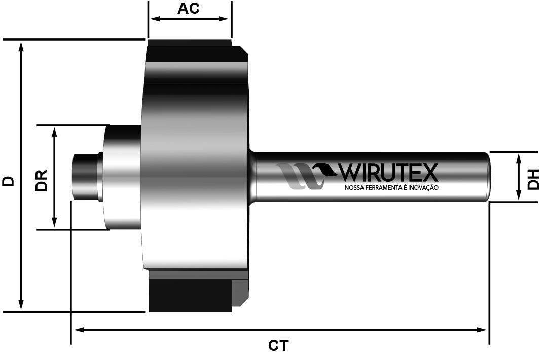 WM0432710060 - Reta com Rolamento Menor   Produto   Wirutex - Nossa Ferramenta é Inovação